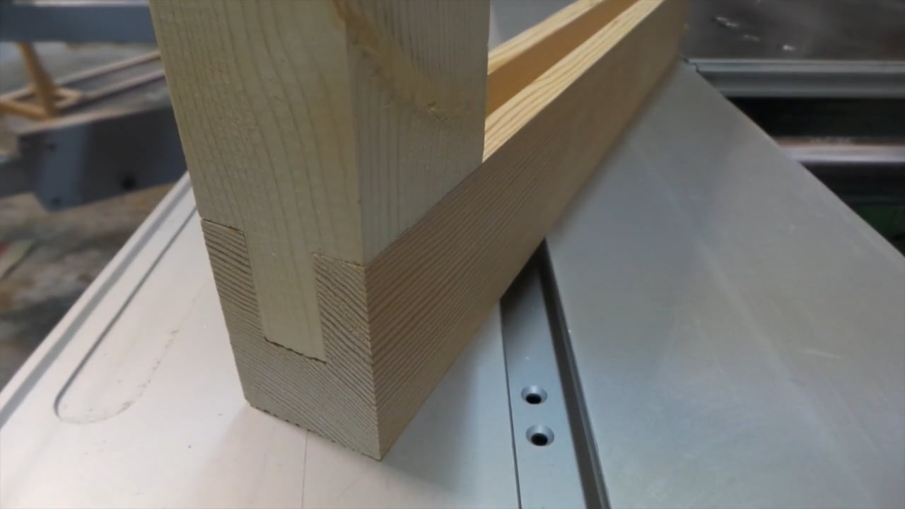 How to make a groove and tenon joint on a shaper