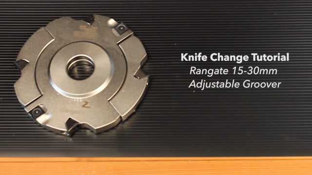 Changing Knives on a Rangate Adjustable Groover