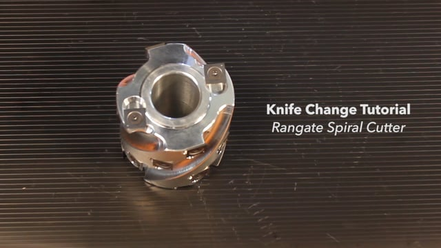 Changing Knives on a Rangate Spiral Cutter Head