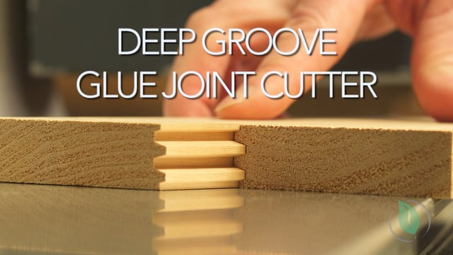 Deep Groove Glue Joint Cutter - Setup & Demonstration