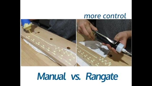 Rangate Pizzi 9001 vs. Manual Glue Bottle