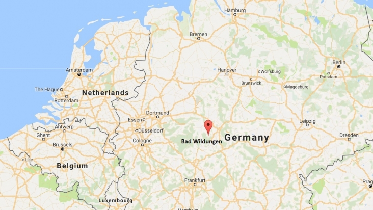 Map of Germany for the Rangate Euro Tour