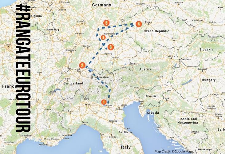 Rangate Euro Tour Map