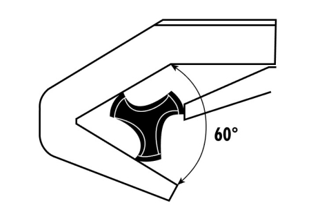 Illustration of 3-point caliper measurement