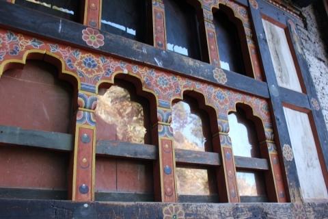 Traditional windows in Bhutan
