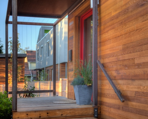 Wilson Street Passive House, Victoria, BC. Photo credit to Bernhardt Contracting
