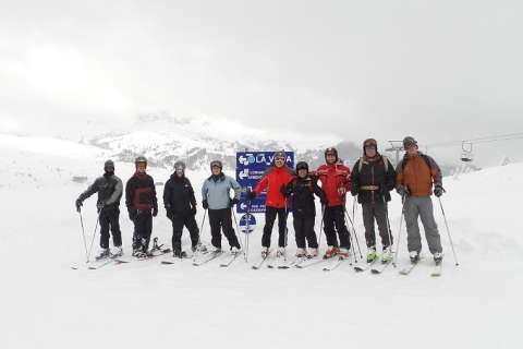 Group shot of Alpiners in the Alps!