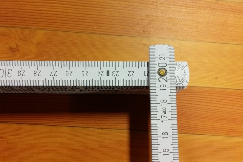 Rangate Folding Ruler Angle Display