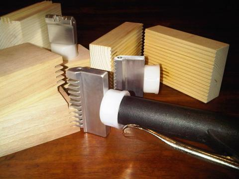Glue Joints and nozzles ready for glue-up