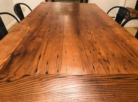 Long shot of this reclaimed table