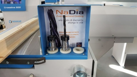 NaDia nano diamond router bits at LIGNA 2017