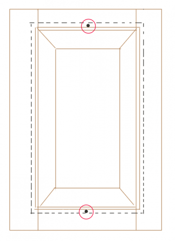 Diagram of proper solid wood panel fastening