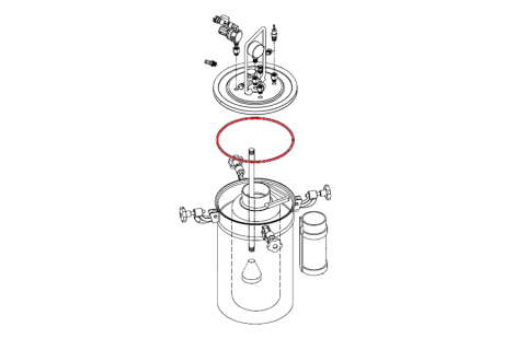 O-Ring for Pizzi 9001 Glue Tank