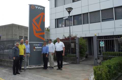 Representatives from Rangate, Zuani, and Rekord at TWT Headquarters