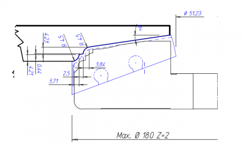 Panel Raise Cutter Tool Drawing