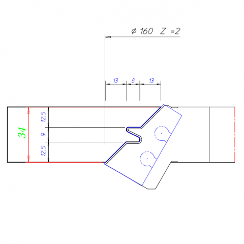 Lock Miter Cutter Tool Drawing