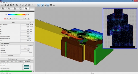 Thermal Simulation of a Window Component