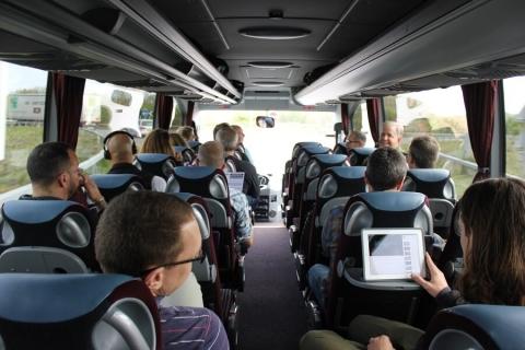 Rangate Euro Tour group on the bus