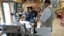 Bhutanese woodworkers at Alpine Technical Workshop