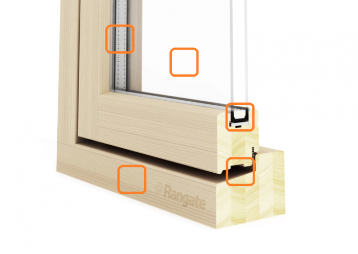 Cross-Section View of Casement Window