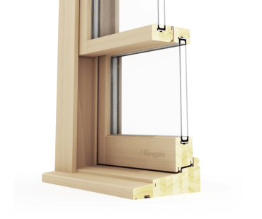 Cross-Section View of Double-Hung Window