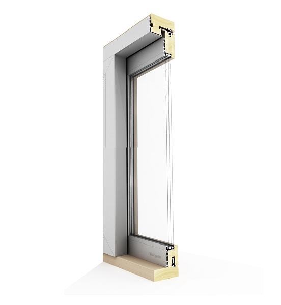 Cross-Section View of Lift-and-Slide Door